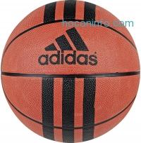 ihocon: adidas Performance 3-Stripes Rubber Basketball - color: Natural Orange/Black, size 6