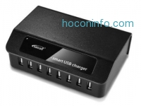 ihocon: Saicoo® 60W 8-Port Family-Sized Desktop USB Charger Station with Intelligent technology
