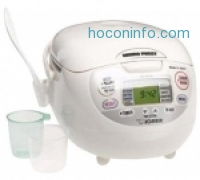 ihocon: Zojirushi NS-ZCC10 5-1/2-Cup (Uncooked) Neuro Fuzzy Rice Cooker and Warmer, Premium White, 1.0-Liter