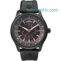 ihocon: Timex Men's Expedition Black Strap Black Case Indiglo Durable Watch T49920