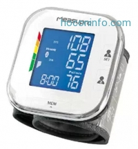 ihocon: MeasuPro Digital Wrist Blood Pressure Monitor with Heart Rate Meter, Hypertension Color Alert Display, Two User Modes, IHB Indicator and Memory Recall
