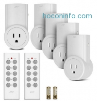 ihocon: Etekcity ZAP 5LX Auto-Programmable Function Wireless Remote Control Outlet Light Switch with 2 Remotes, 5-Pack Outlet