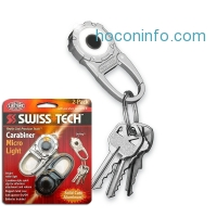 ihocon: 2 Pack Swiss Tech Solid Cast Aluminum Carabiner Micro Light Keychain