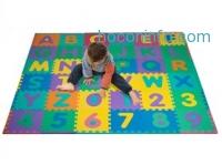 ihocon: 96-Piece Foam Floor Alphabet & Number Puzzle Mat For Kids