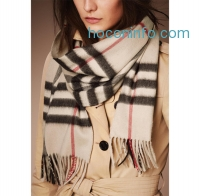 ihocon: Burberry Heritage Check 100% Cashmere Scarf