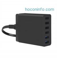 ihocon: CHOETECH 6-Port Smart Desktop 60W USB Power Adapter