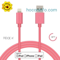 ihocon: [Apple MFi Certified] 8-Pin Lightning to USB Charger and Data Sync Cable, 6.0ft / 1.8M