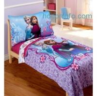 ihocon: Disney Frozen Elsa & Anna 4-Piece Toddler Bedding Set