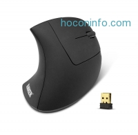 ihocon: Anker 2.4G Wireless Vertical Ergonomic Optical Mouse, 800 / 1200 /1600DPI, 5 Buttons