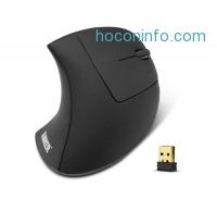 ihocon: Anker 2.4G Wireless Vertical Ergonomic Optical Mouse, 800 / 1200 /1600DPI, 5 Buttons