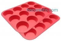 ihocon: Ozera Silicone Muffin Pan / Cupcake Pan Cupcake Mold 12 Cup, Set of 2