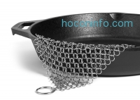 ihocon: Hudson Cast Iron Cleaner XL 7x7 Premium Stainless Steel Chainmail Scrubber