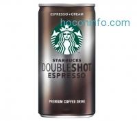 ihocon: Starbucks Doubleshot 罐裝咖啡 Espresso + Cream, 6.5 Ounce, 12 Pack