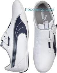 ihocon: PUMA White and Navy Slip-on Leather Shoes - 2色可選