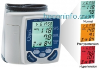 ihocon: Ozeri BP2M 彩色警示電子血壓計 CardioTech Premium Series Digital Blood Pressure Monitor with Hypertension Color Alert Technology