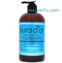 ihocon: Pura d'or Hair Loss Prevention Premium Organic Shampoo, Brown and Blue, 16 Fluid Ounce