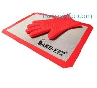ihocon: Silicone Baking Mat With Oven Mitt Set