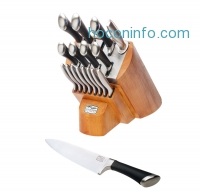 ihocon: Chicago Cutlery Fusion Knife Block Set 1090390, 18-Pieces, Stainless Steel