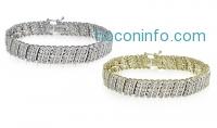 ihocon: 1克拉或2克拉 Miracle-Set鑽石手鍊