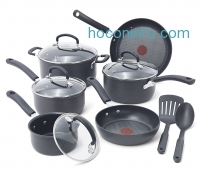 ihocon: T-fal E918SC Ultimate Hard Anodized Nonstick Expert Interior Thermo-Spot Heat Indicator Cookware Set, 12-Piece