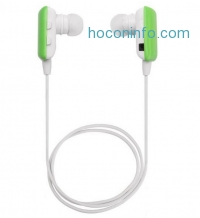 ihocon: Ecandy White/Red Ultra Lightweight Wireless Stereo Sports earbuds
