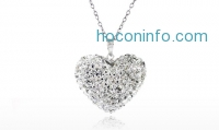 ihocon: Swarovski Elements Bubble Heart Pendant in Sterling Silver