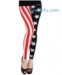 ihocon: Oryer Womens American Flag Leggings Pants