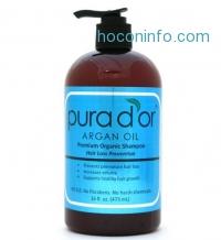 ihocon: Pura d'or 綠色有機防落髮洗髮乳 Hair Loss Prevention Premium Organic Shampoo, Brown and Blue, 16 Fluid Ounce