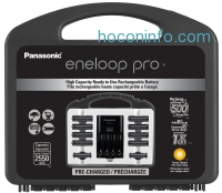 ihocon: Panasonic eneloop pro 充電電池組 NEW High Capacity Power Pack, 8AA, 2AAA, with Advanced Individual Battery Charger K-KJ17KHC82A