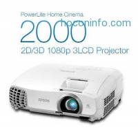 ihocon: Epson Home Cinema 2000 3D立體家庭劇院投影機 1080p, HDMI, 3LCD, Real 3D, 1800 Lumens Color and White Brightness, Home Theater Projector