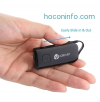ihocon: iClever® IC-BTT03 2nd Gen Wireless Portable Stereo Music Bluetooth Transmitter and Adapter/Dongle