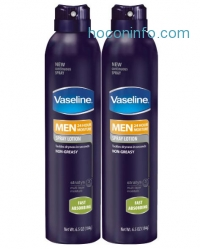 ihocon: Vaseline Men Spray Lotion, Fast Absorbing, 13 Ounce