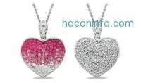 ihocon: Heart Pendant with Swarovski Elements Crystals