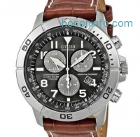 ihocon: Citizen 星辰光動能鈦金皮帶男錶 Men's Titanium Eco-Drive Watch with Leather Band BL5250-02L