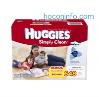 ihocon: Huggies 嬰兒濕巾 Simply Clean Baby Wipes, Refill, 648 Count