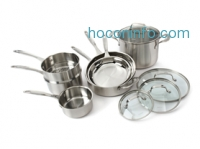 ihocon: Cuisinart CLCS-11 11-Piece Stainless Steel Cookware Set