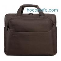ihocon: Avber Waterproof Nylon Notebook Laptop Sleeve Bag for 15-Inch Laptops Brown