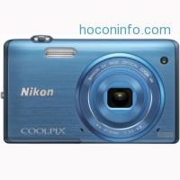 ihocon: Nikon COOLPIX S5200 16 MP Built-In Wi-Fi Digital Camera (Factory Refurbished)