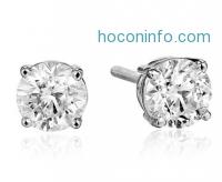 ihocon: 14K White Gold White Diamond (1 1/2cttw, K-L Color, I1-I2 Clarity) Stud Earrings