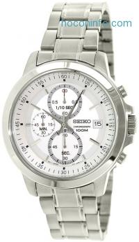ihocon: Seiko SKS441 Chronograph Silver Tone Dial Stainless Steel Mens Quartz Watch