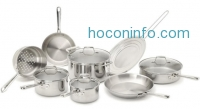 ihocon: Emeril by All-Clad 2100058159 PRO-CLAD Tri-Ply Stainless Steel 12-Pc Cookware Set