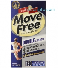 ihocon: Move Free Double Strength Glucosamine Chondroitin and Hyaluronic Acid Joint Supplement, 120 Count