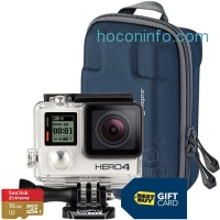 ihocon: GoPro HERO4 Silver/MOTO Action Camera with Free Camera Case, 16GB Memory Card and $40 Best Buy Gift Card