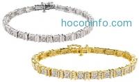 ihocon: 1/4 CTTW Diamond Bracelets