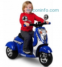 ihocon: Yamaha Vino Retro Scooter 3-Wheel 6-Volt Battery-Powered Ride-On