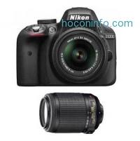 ihocon: Nikon D3300 DSLR Camera w/ 18-55mm VR II + 55-200mm VR Lens (Manufacturer refurbished)