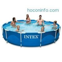 ihocon: Intex 12ft X 30in Metal Frame Pool Set