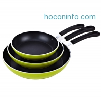 ihocon: Cook N Home 8 to 10 to 12-Inch Frying Pan/Saute Pan 3-Piece Set