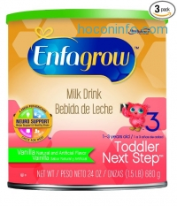 ihocon: Enfagrow Toddler Next Step Vanilla, for Toddlers 1 Year and Up, 24 Ounce (Pack of 3)