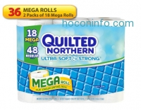 ihocon: Quilted Northern 廁所用衛生紙 Ultra Soft and Strong Bath Tissue, 36 Mega Rolls